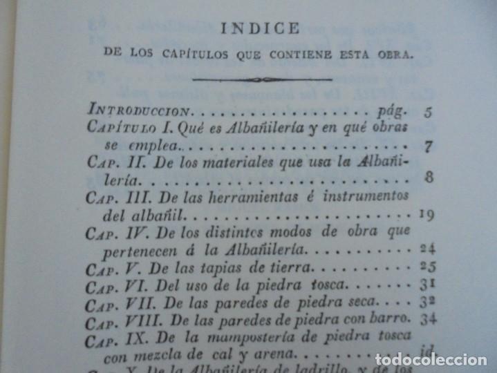 Libros de segunda mano: ARTE DE ALBAÑILERIA. JUAN DE VILLANUEVA. ASLAND. EDICIONES VELAZQUEZ. FACSIMIL. 1977 - Foto 14 - 245218500
