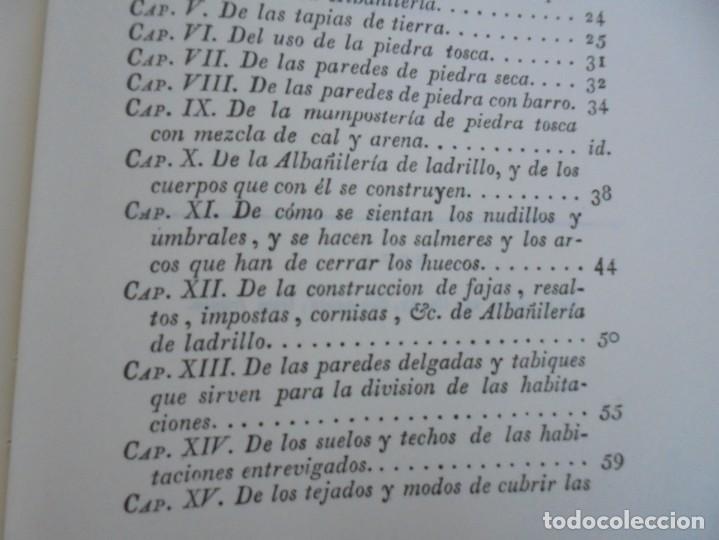 Libros de segunda mano: ARTE DE ALBAÑILERIA. JUAN DE VILLANUEVA. ASLAND. EDICIONES VELAZQUEZ. FACSIMIL. 1977 - Foto 15 - 245218500