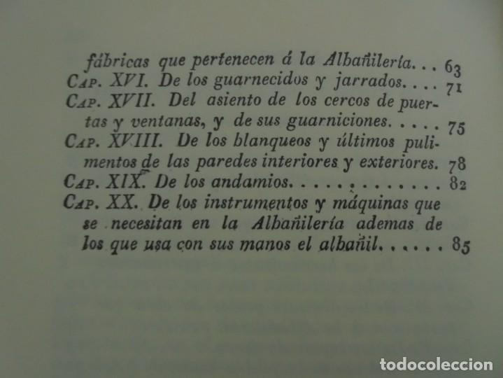Libros de segunda mano: ARTE DE ALBAÑILERIA. JUAN DE VILLANUEVA. ASLAND. EDICIONES VELAZQUEZ. FACSIMIL. 1977 - Foto 16 - 245218500