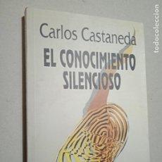 Libros de segunda mano: EL CONOCIMIENTO SILENCIOSO. CARLOS CASTANEDA. ED. GAIA, 1994. 301 PP. Lote 245243235