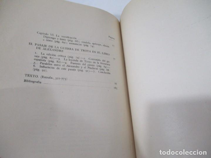 Libros de segunda mano: E. ALARCOS LLORACH Investigaciones sobre el libro de Alexandre W5566 - Foto 3 - 245360810