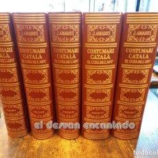 Libros de segunda mano: COSTUMARI CATALÀ. JOAN AMADES. 5 VOLUMS. COMPLETA. ED. 1986. ENVIAMENT PENÍNSULA 12.00 €. Lote 245425035