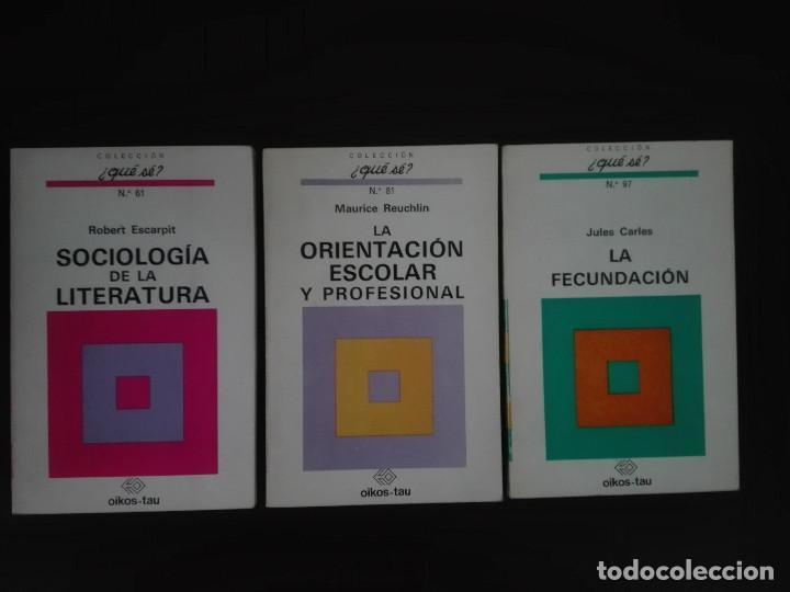 3 LIBROS COLECCIÓN ¿QUÉ SÉ? SOCIOLOGIA, LITERATURA, ORIENTACION ESCOLAR PROFESIONAL, FECUNDACION ... (Libros de Segunda Mano - Literatura Infantil y Juvenil - Otros)