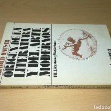 Libros de segunda mano: ORIGEN DE LA LITERATURA Y EL ARTE MODERNOS / III LITERATURA Y MANIERISMO - ARNOLD AUSER / GUADARRAMA. Lote 245520705