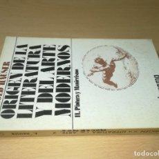 Libros de segunda mano: ORIGEN DE LA LITERATURA Y EL ARTE MODERNOS / II PINTURA Y MANIERISMO - ARNOLD AUSER / GUADARRAMA / E. Lote 245520765