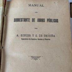 Libros de segunda mano: MANUAL DEL SOBRESTANTE DE OBRAS PÚBLICAS (BOLS 3). Lote 245616910