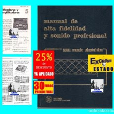 Libros de segunda mano: MANUAL DE ALTA FIDELIDAD Y SONIDO PROFESIONAL - JOSÉ MOMPÍN POBLET MARCOMBO BOIXAREU - MUY ILUSTRADO. Lote 246140510