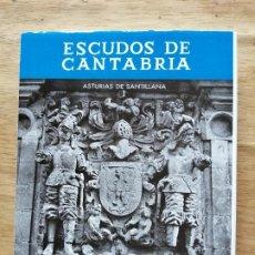 Libros de segunda mano: ESCUDOS DE CANTABRIA. ASTURIAS DE SANTILLANA. CARMEN GONZÁLEZ ECHEGARAY.. Lote 246193660