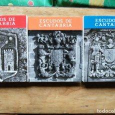Libros de segunda mano: ESCUDOS DE CANTABRIA. CARMEN GONZÁLEZ ECHEGARAY. TRES VOLÚMENES.. Lote 246193840