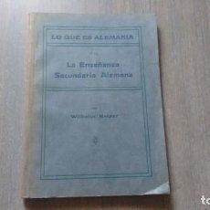 Libros de segunda mano: LA ENSEÑANZA SECUNDARIA EN ALEMANIA - WILHELM KEIPER. Lote 246195475