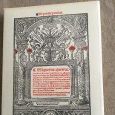 Libros de segunda mano: EL BLANQUERNA. RAMON LLULL. EDICIÓN FACSIMILAR.. Lote 246283235