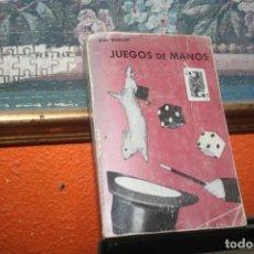 Libros de segunda mano: LIBRO JUEGOS DE MANOS BOSCAR. Lote 246306530