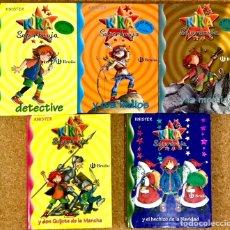 Libros de segunda mano: KIKA SUPERBRUJA - LOTE 5 LIBROS PACK KNISTER - BRUÑO - DON QUIJOTE DE LA MANCHA NAVIDAD DETECTIVE. Lote 246345210