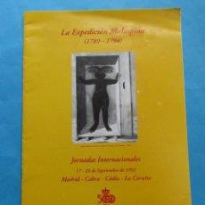 Libros de segunda mano: LA EXPEDICIÓN MALASPINA (1789-1794). SEPTIEMBRE 1992. 12 PÁGINAS. 30 X 21 CM.. Lote 246462030
