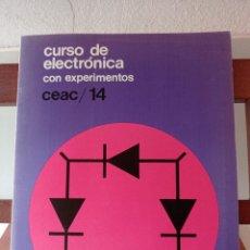 Libros de segunda mano: CURSO DE ELECTRONICA CON EXPERIMENTOS CEAC/ 14. ENVÍO CERTIFICADO 4,99. Lote 246478825