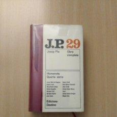 Libros de segunda mano: JOSEP PLA. OBRA COMPLETA N° 29. EDICIONS 62. Lote 246608700