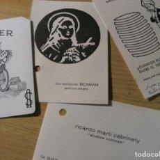 Libros de segunda mano: 4 CARTAS TARJETA MAGO RICHMAN . SECCION ILUSIONISMO APARICION SANTA TERESA . JOKER . MAGIA. Lote 246773925