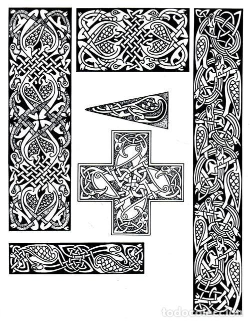 Libros de segunda mano: M84 - CELTA. ARTE. PATRONES. PLANTILLAS. FIGURAS. MOTIVOS. BORDES. SOURCE BOOK. CELTA. - Foto 4 - 246780235
