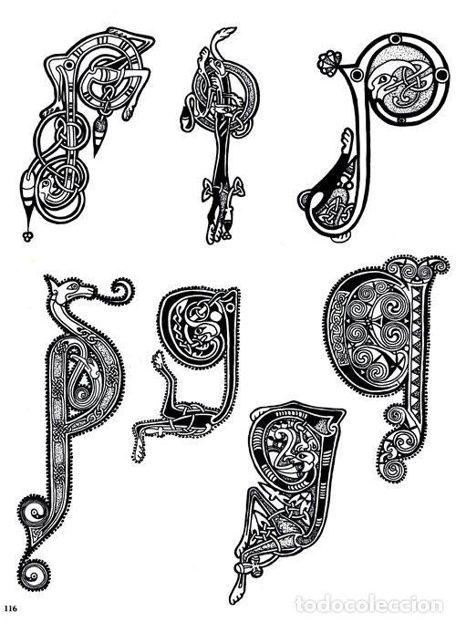 Libros de segunda mano: M84 - CELTA. ARTE. PATRONES. PLANTILLAS. FIGURAS. MOTIVOS. BORDES. SOURCE BOOK. CELTA. - Foto 13 - 246780235