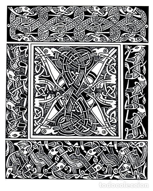 Libros de segunda mano: M84 - CELTA. ARTE. PATRONES. PLANTILLAS. FIGURAS. MOTIVOS. BORDES. SOURCE BOOK. CELTA. - Foto 14 - 246780235