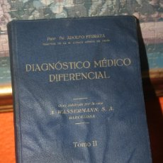 Libros de segunda mano: LIBRO DIAGNOSTICO MEDICO DIFERENCIAL TOMO II. Lote 247184550