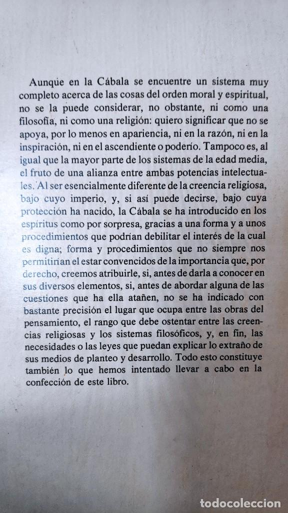 Libros de segunda mano: LA KABBALA O LA FILOSOFIA RELIGIOSA DE LOS HEBREOS ( A. FRANCK ) EDITORIAL HUMANITAS - Foto 3 - 247315640