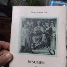 Libros de segunda mano: PEDRO XAMENA FIOL RESUMEN DE LA HISTORIA DE MALLORCA. FELANITX 1970. Lote 247442920