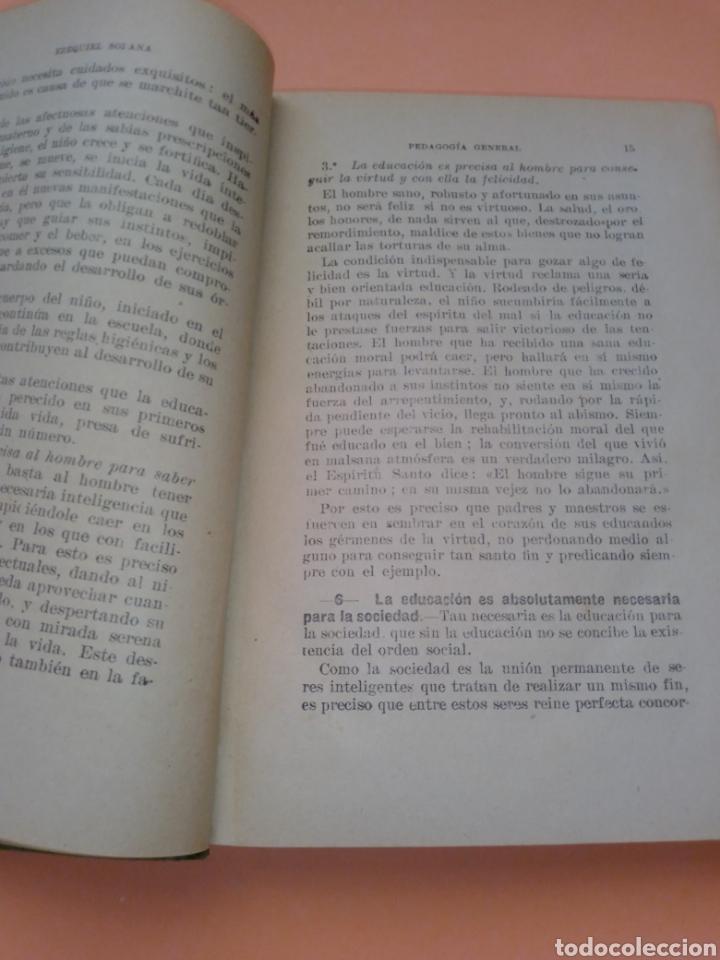 Libros de segunda mano: AÑOS 40 PEDAGOGIA GENERAL, EZEQUIEL SOLANA , TAPA DURA EN TELILLA - Foto 3 - 247553155