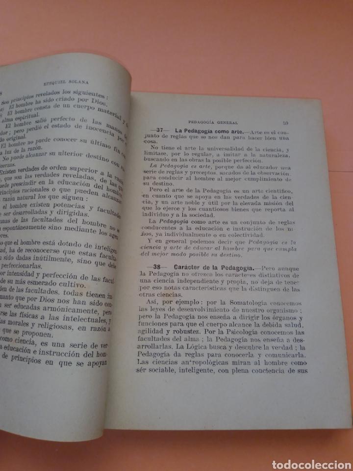 Libros de segunda mano: AÑOS 40 PEDAGOGIA GENERAL, EZEQUIEL SOLANA , TAPA DURA EN TELILLA - Foto 4 - 247553155