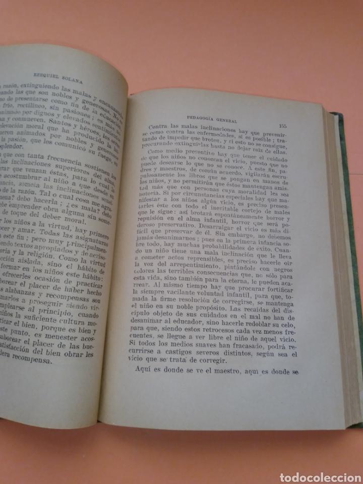 Libros de segunda mano: AÑOS 40 PEDAGOGIA GENERAL, EZEQUIEL SOLANA , TAPA DURA EN TELILLA - Foto 5 - 247553155