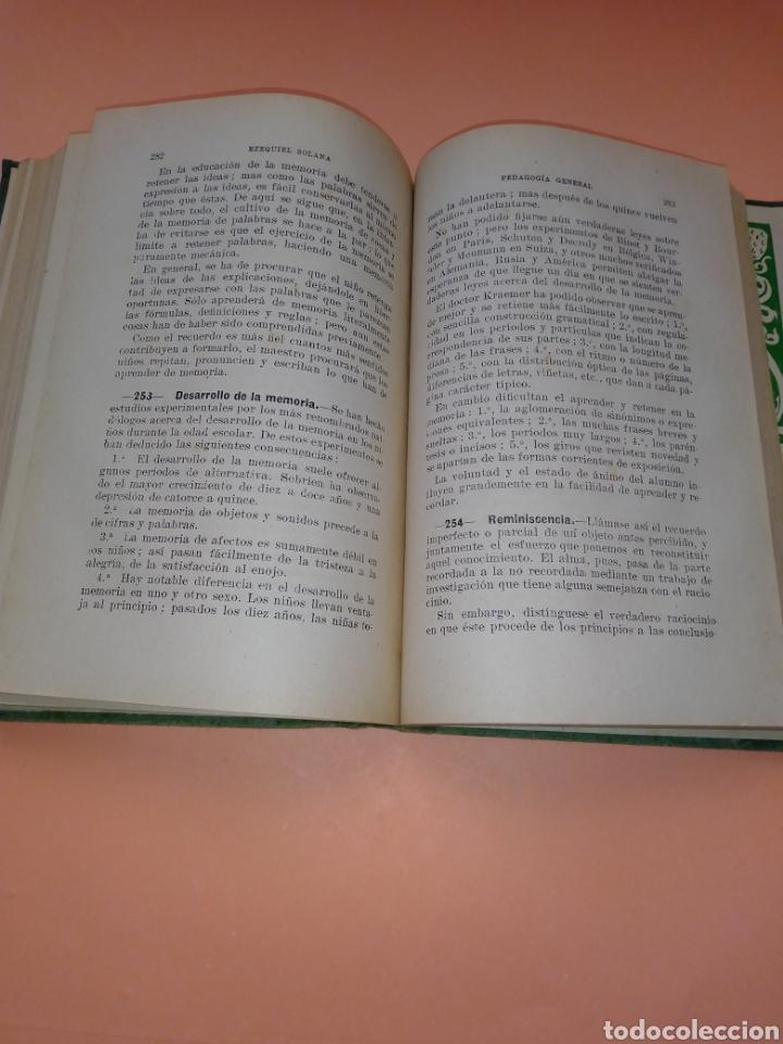 Libros de segunda mano: AÑOS 40 PEDAGOGIA GENERAL, EZEQUIEL SOLANA , TAPA DURA EN TELILLA - Foto 6 - 247553155