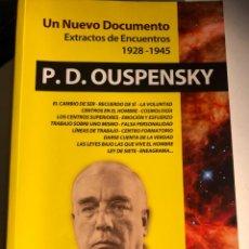 Libros de segunda mano: UN NUEVO DOCUMENTO: EXTRACTOS DE ENCUENTROS 1928-1945 P. D. OUSPENSKY. Lote 247640575