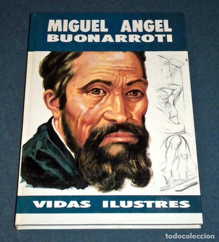 """LIBRO """"VIDAS ILUSTRES - MIGUEL ÁNGEL BUONARROTI"""" (SUSAETA EDICIONES) (Libros de Segunda Mano - Literatura Infantil y Juvenil - Otros)"""
