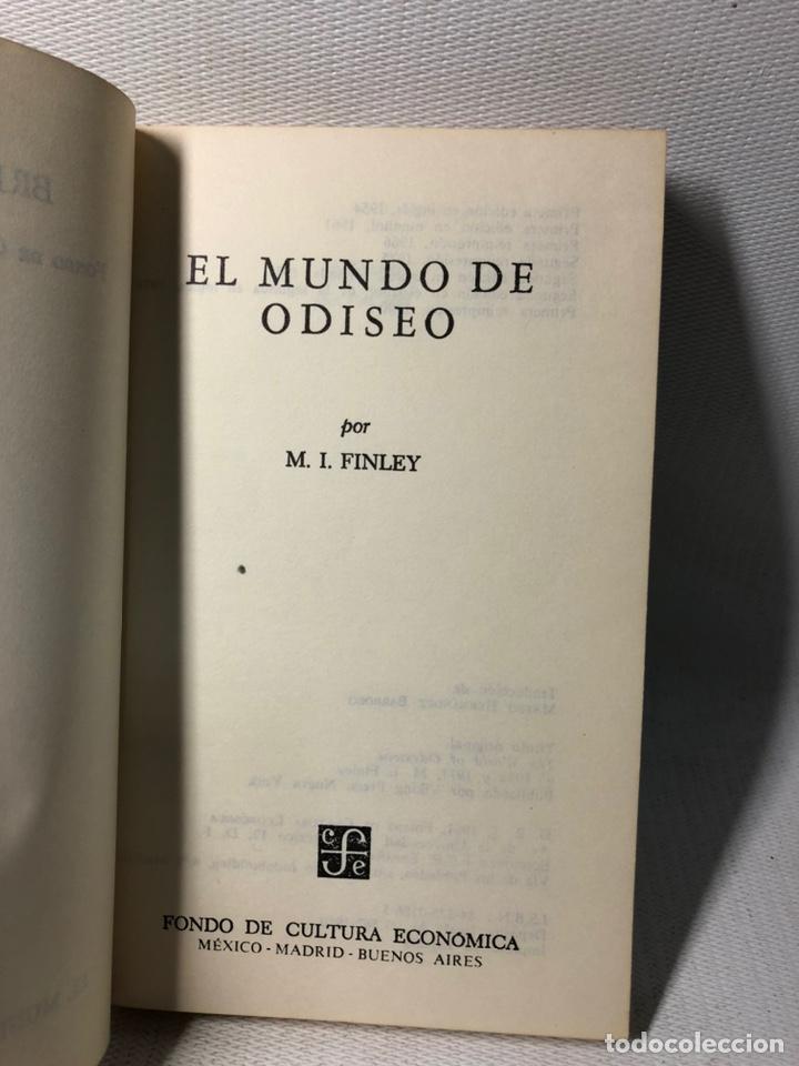 Libros de segunda mano: EL MUNDO DE ODISEO ··· BREVIARIOS ··· M. I. FINLEY ·· ED. EFE ··· - Foto 2 - 248250540