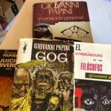 Libros de segunda mano: LOTE DE LIBROS DE GIOVANNI PAPINI. Lote 248456945