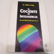 Libros de segunda mano: D.R ALBERT LANG EL COCIENTE DE INTELIGENCIA W5925. Lote 248600220