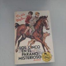 Libros de segunda mano: LOS CINCO EN EL PARAMO MISTERIOSO. Lote 249258835