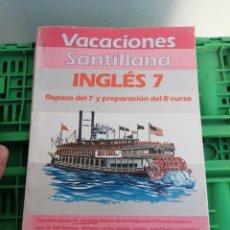 Libros de segunda mano: LIBRO VACACIONES SANTILLANA INGLÉS ALUMNOS DE 8 CURSO 1986. Lote 250211700