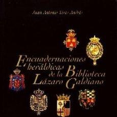Livros em segunda mão: ENCUADERNACIONES HERÁLDICAS. YEVES ANDRÉS JUAN ANTONIO. E-014. Lote 251256955
