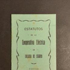 Libros de segunda mano: ESTATUTOS DE LA COOPERATIVA ELÉCTRICA DE CALLOSA DE SEGURA ALICANTE. Lote 251593425
