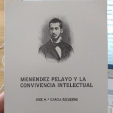 Libros de segunda mano: MENEDEZ PELAYO Y LA CONVIVENCIA INTELECTUAL, J. M. GARCIA ESCUDERO, F. MARCELINO BOTIN, 1988 RARO. Lote 251817825