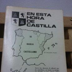 Libros de segunda mano: EN ESTA HORA DE CASTILLA. AMADOR ALVAREZ MATEO. VALENCIA. Lote 252029565