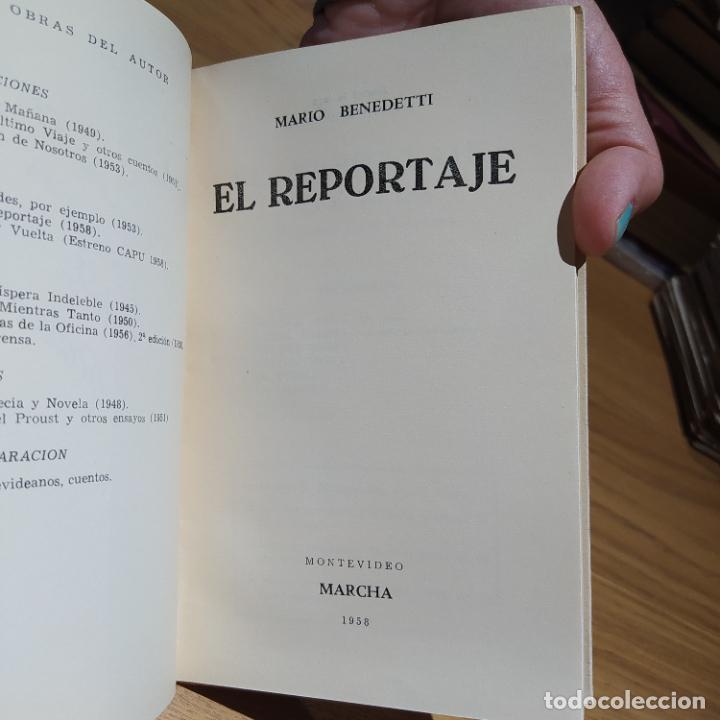 Libros de segunda mano: El Reportaje, Mario Benedetti. Dedicada por el autor. Editada por Marcha, Montevideo, 1958 - Foto 17 - 252056395