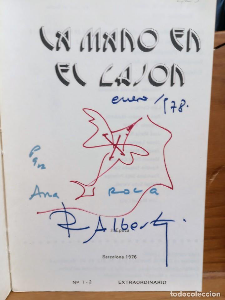 Libros de segunda mano: APROXIMACIÓN A RAFAEL ALBERTI Y MARÍA TERESA LEÓN - DIBUJO A COLOR Y DEDICATORIA DE ALBERTI - Foto 3 - 252352805
