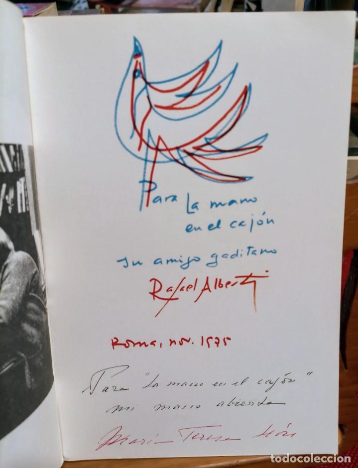 Libros de segunda mano: APROXIMACIÓN A RAFAEL ALBERTI Y MARÍA TERESA LEÓN - DIBUJO A COLOR Y DEDICATORIA DE ALBERTI - Foto 5 - 252352805