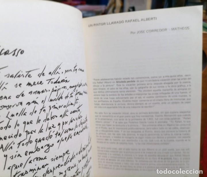 Libros de segunda mano: APROXIMACIÓN A RAFAEL ALBERTI Y MARÍA TERESA LEÓN - DIBUJO A COLOR Y DEDICATORIA DE ALBERTI - Foto 6 - 252352805