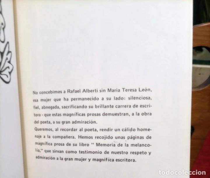 Libros de segunda mano: APROXIMACIÓN A RAFAEL ALBERTI Y MARÍA TERESA LEÓN - DIBUJO A COLOR Y DEDICATORIA DE ALBERTI - Foto 12 - 252352805