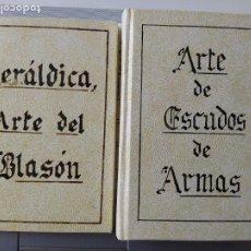 Libros de segunda mano: FACSÍMILES. ARTE DEL BLASÓN Y ARTE DE ESCUDOS Y ARMAS, ED. PARIS-VALENCIA, PRECIOSA ENCUADERNACION.. Lote 252446390