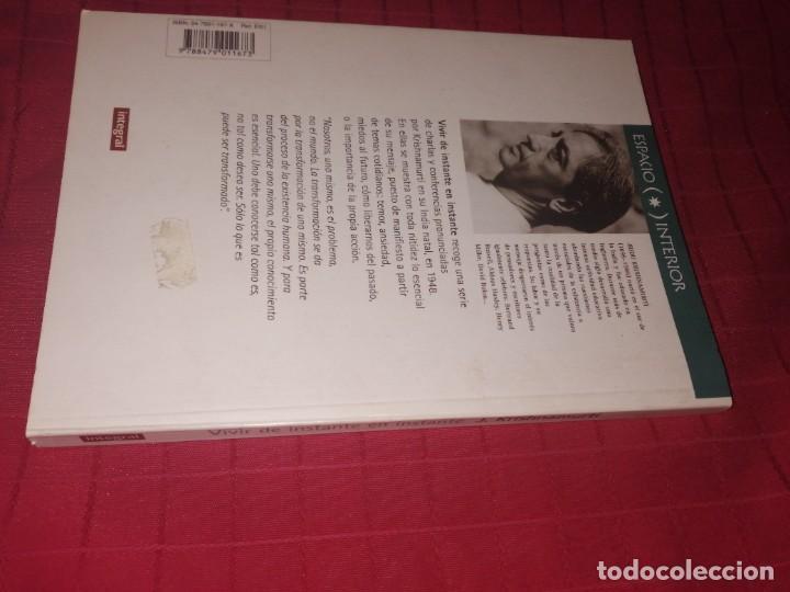 Libros de segunda mano: VIVIR DE INSTANTE EN INSTANTE J. KRISHNAMURTI - Foto 2 - 253358660
