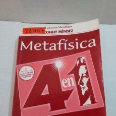 Livres d'occasion: 22407 - METAFISICA - 4 EN 1 - VOL I - POR CONNY MENDEZ - COLECCION METAFISICA - AÑO ?. Lote 253408530